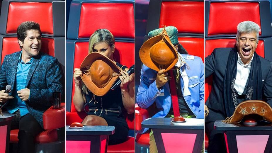 The Voice Brasil: os técnicos Daniel, Claudia, Brown e Lulu