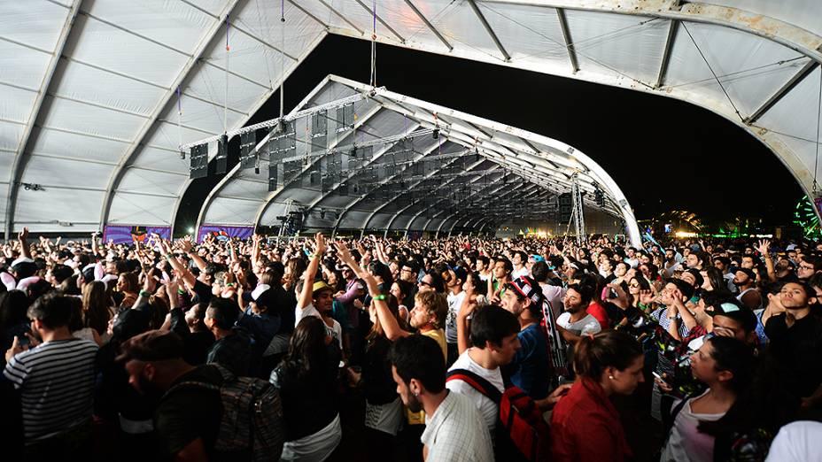 Público no segundo dia do festival Lollapalooza, em São Paulo