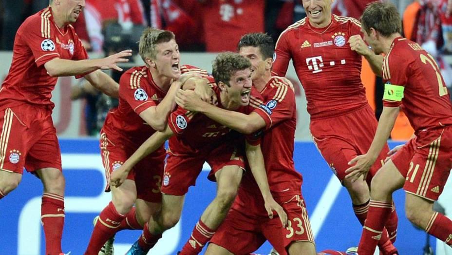Thomas Mueller marcou o gol do Bayern de Munique no tempo regulamentar
