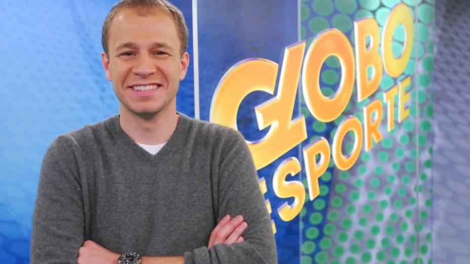 Tiago Leifert, apresentador do Globo Esporte