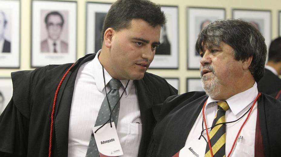 Tiago Lenoir e Adolfo Lúcio, advogados do goleiro Bruno