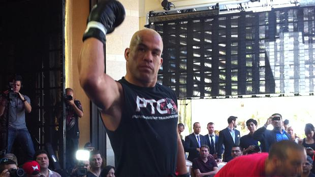 Tito Ortiz nos treinos livres para o UFC 148, em Las Vegas