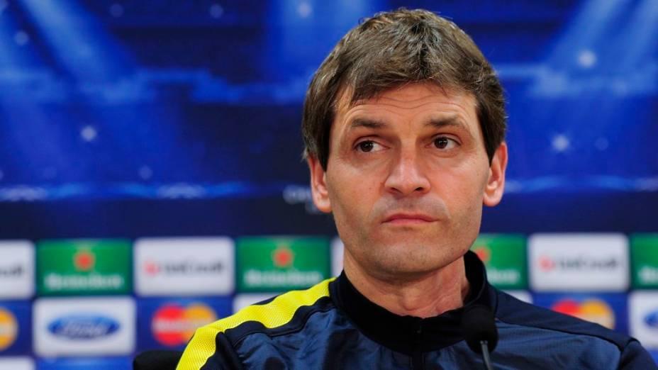 O técnico do Barcelona, Tito Vilanova, de 44 anos