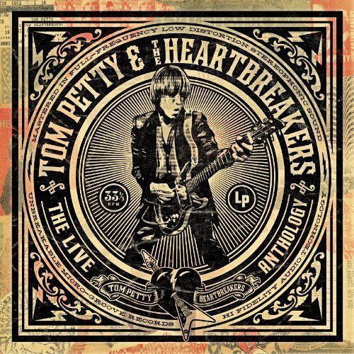 Capa do disco The Live Anthology, de Tom Petty, feita por Shepard Fairey