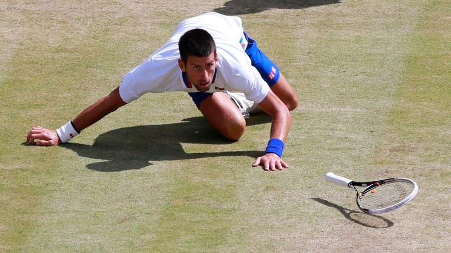 O tenista Novak Djokovic, da Sérvia, nos Jogos Olímpicos de Londres