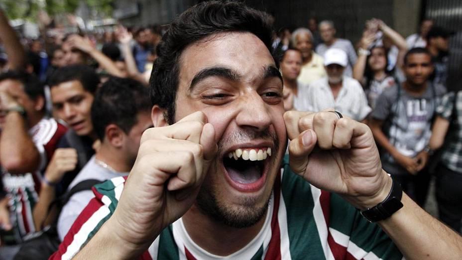 Torcedor do Fluminense ironiza choro do grupo da Portuguesa, punida pelo STJD
