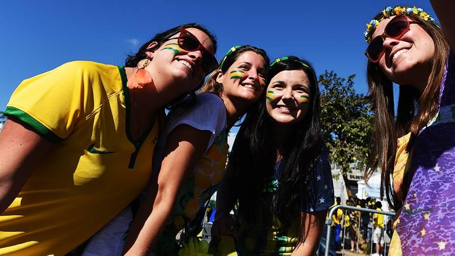 Movimentação no Mineirão antes da partida entre Brasil e Chile, em Belo Horizonte