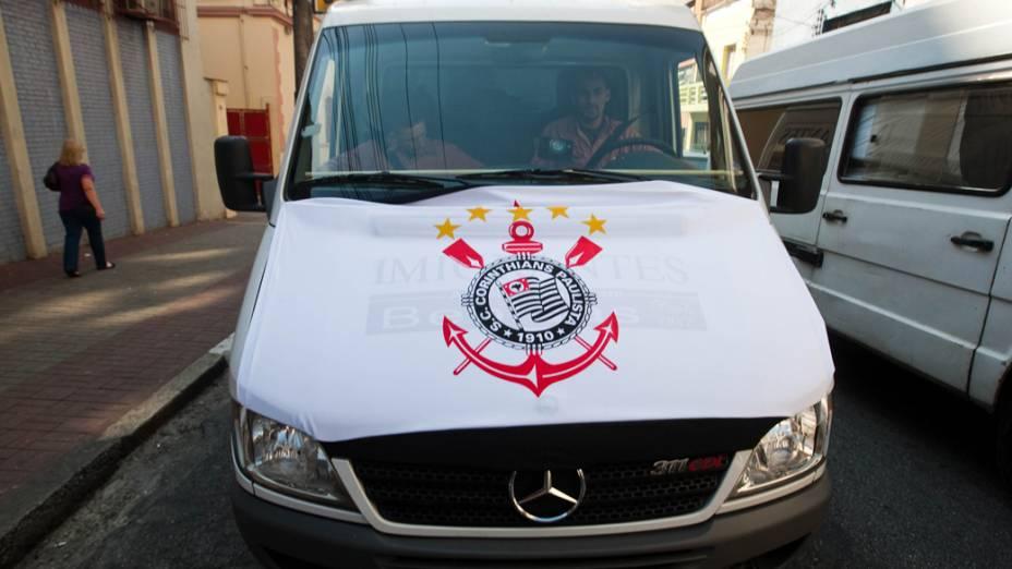 Torcedores do Corinthians no trânsito de São Paulo