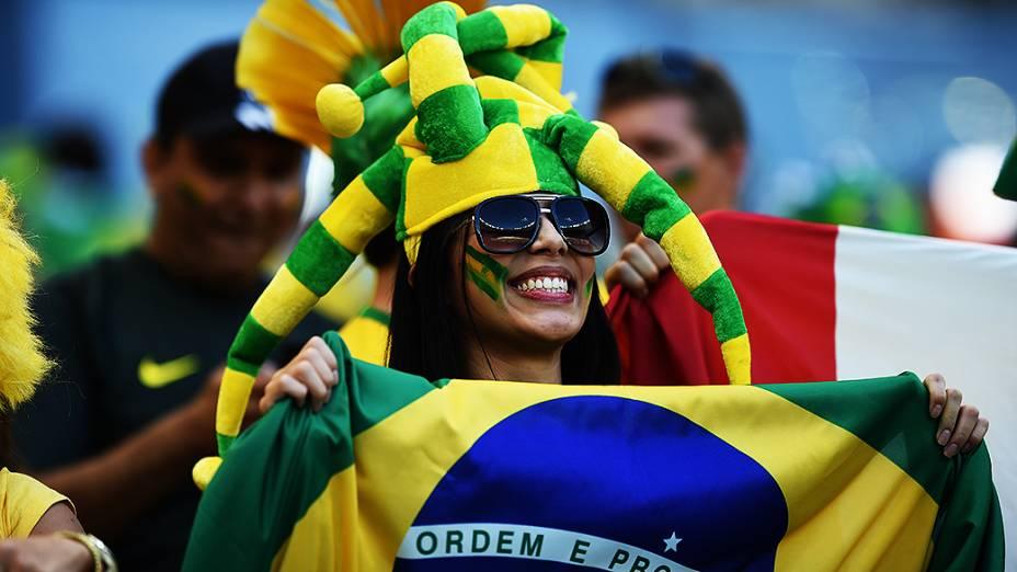 Torcida no estádio Mineirão, em Belo Horizonte