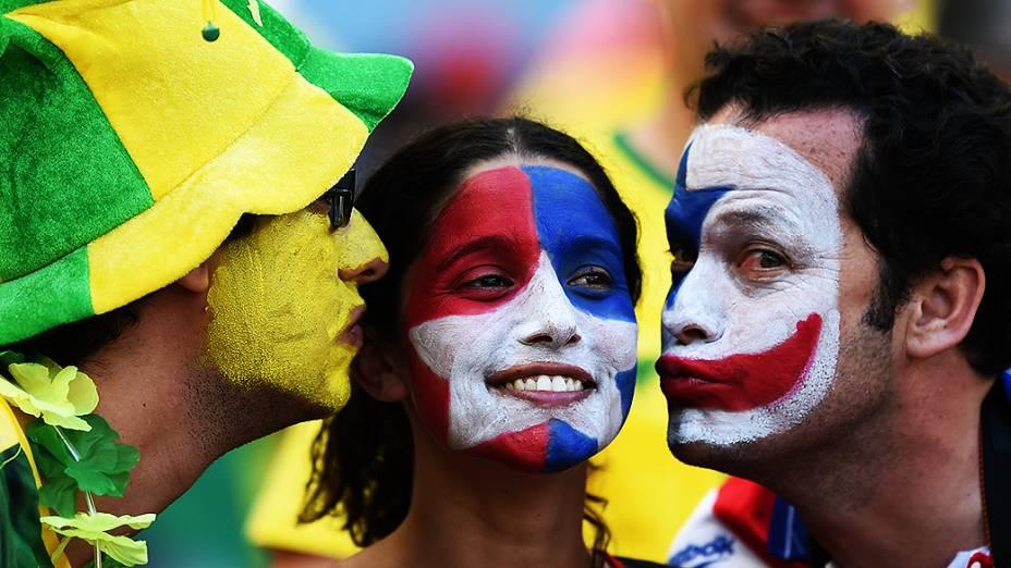 Torcida no estádio Mineirão na partida Brasil x Chile