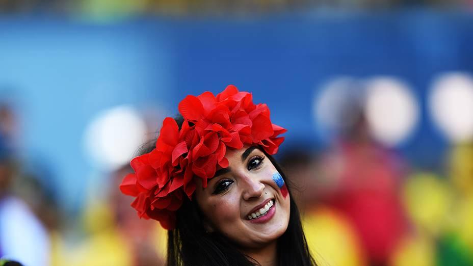 Torcida da partida Brasil x Chile
