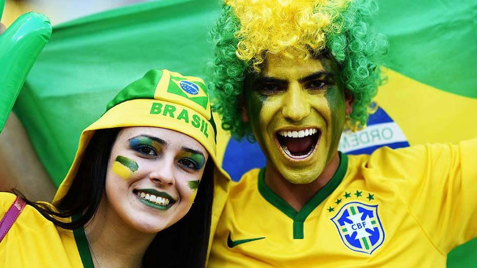 Torcida na partida Brasil x Chile, em Minas Gerais
