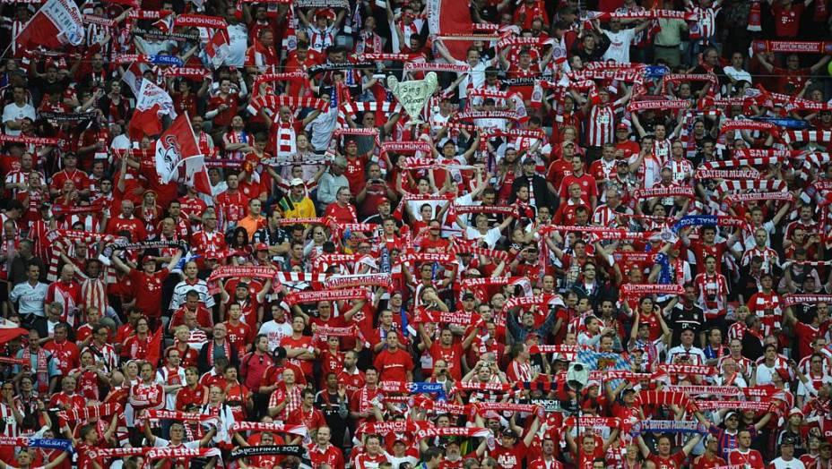 Torcida do Bayern de Munique antes do começo da partida