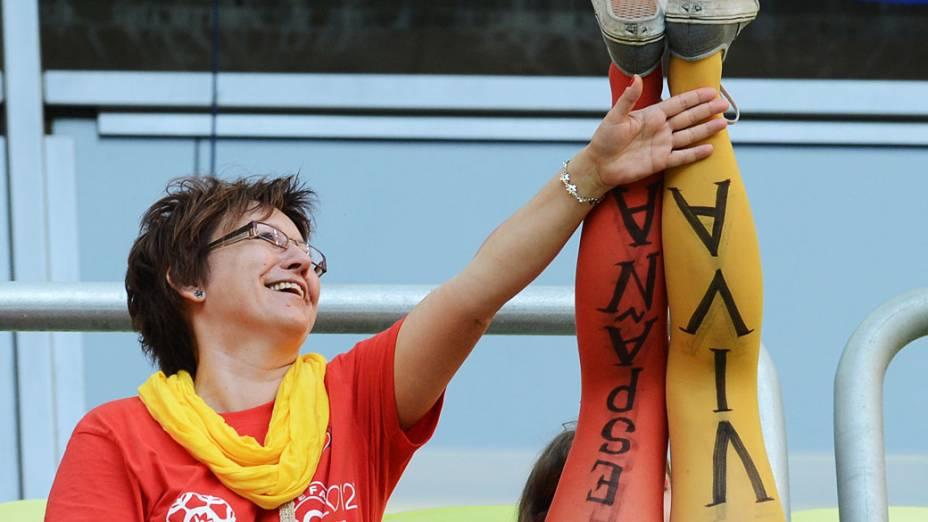 Torcida espanhola durante partida contra a Croácia válida pela 3ª rodada de Eurocopa 2012