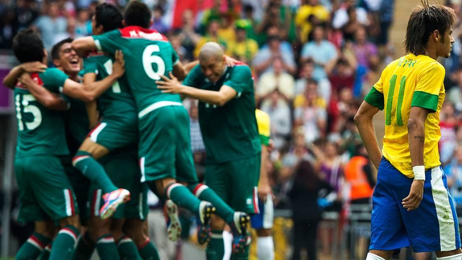 Brasil perde para México e fica com a prata no futebol, em 11/08/2012