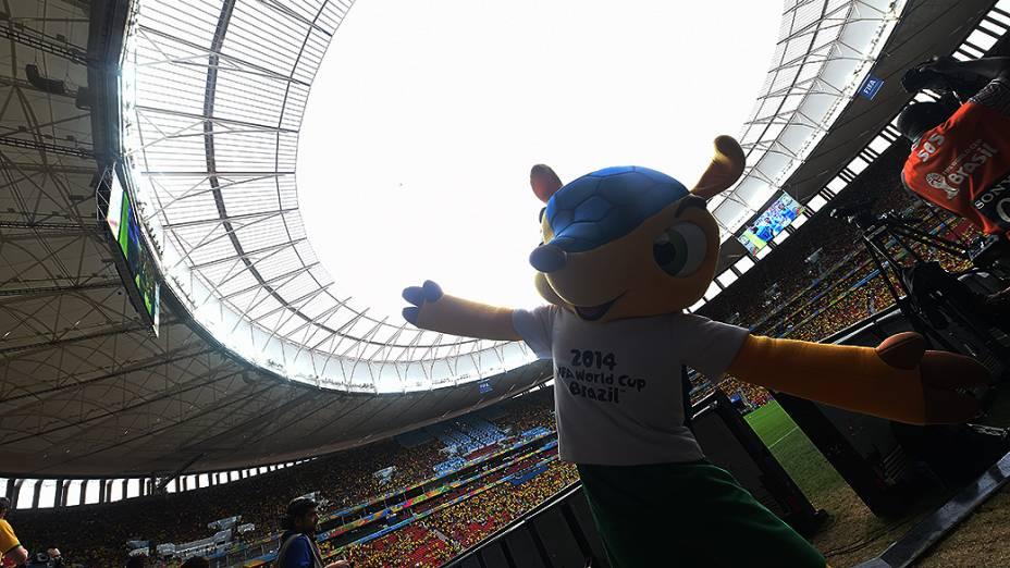 Fuleco, o mascote da Copa do Brasil