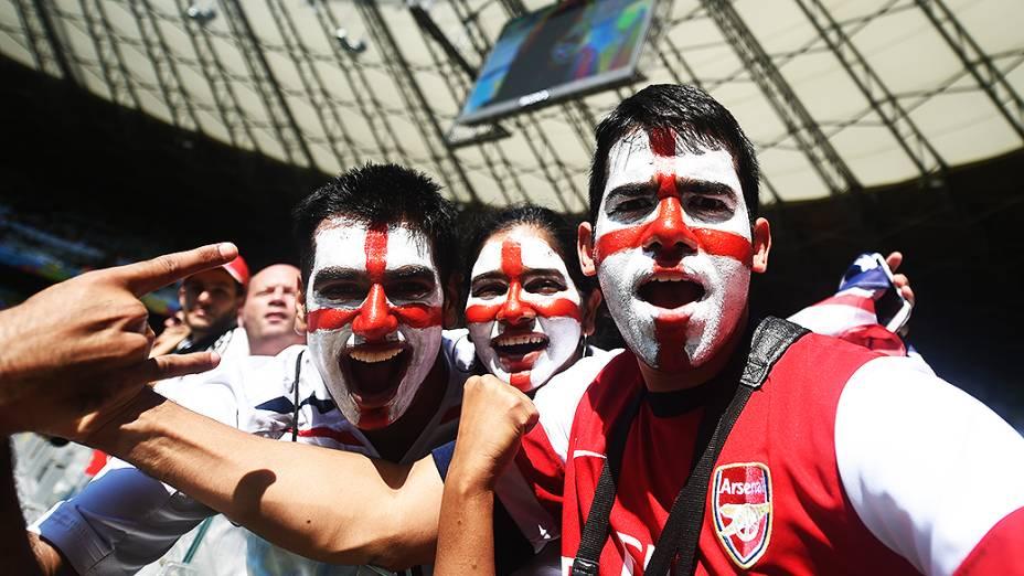 Torcida da Inglaterra durante a Copa do Mundo, em Belo Horizonte