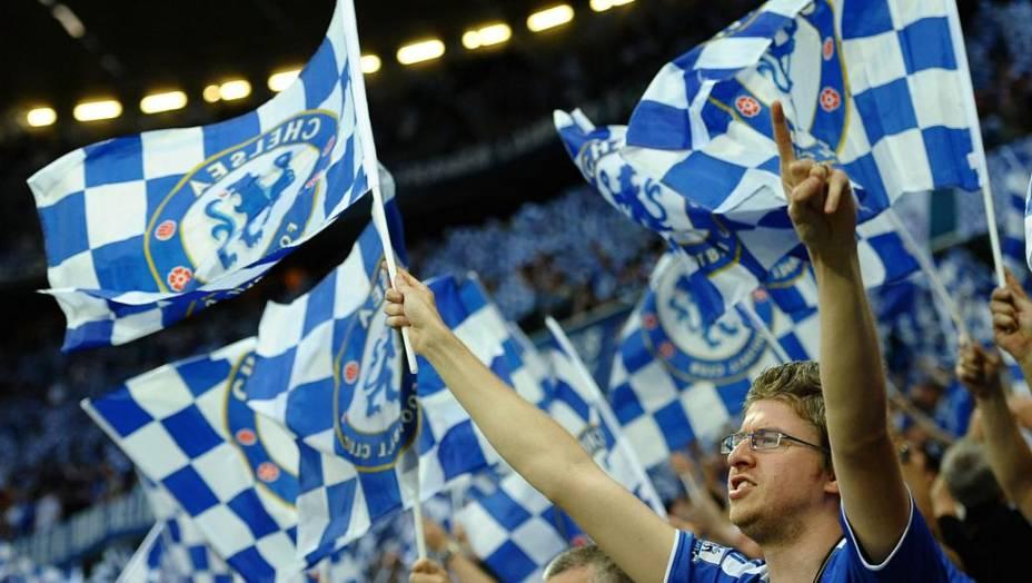 Torcida no Chelsea na final da Liga dos Campeões