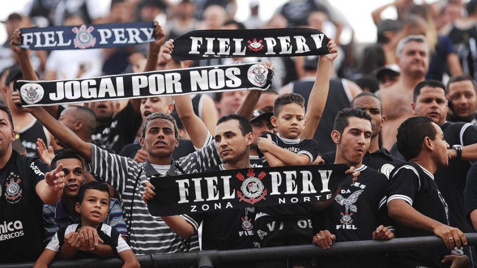Torcida do Corinthians na semifinal do Campeonato Paulista