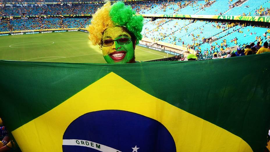 Torcida durante partida da Copa das Confederações na Fonte Nova em Salvador