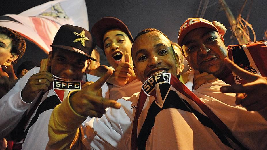 Torcida do São Paulo no Morumbi antes da partida contra o Atlético Mineiro (MG)