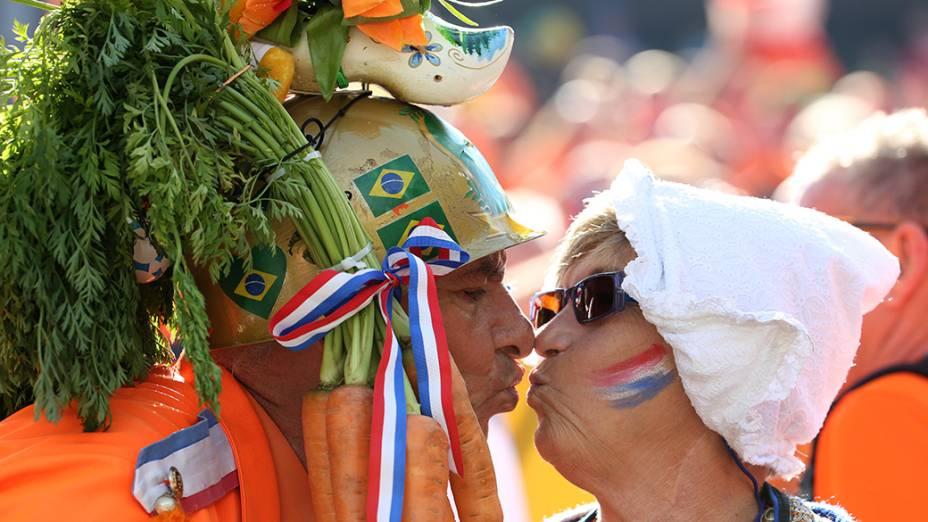 Torcedores da Holanda chegam no Itaquerão para o jogo contra o Chile, em São Paulo