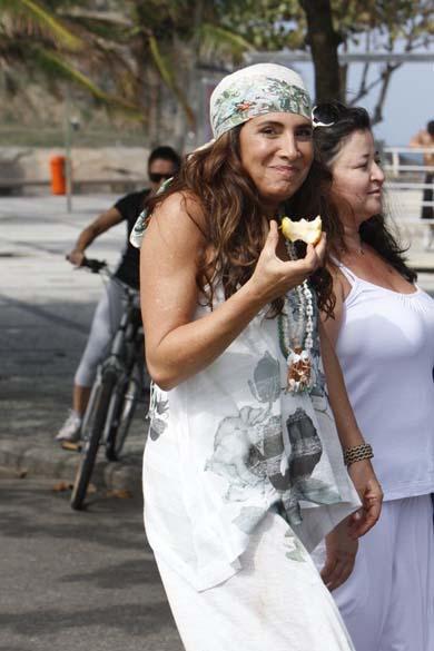 Totia Meirelles durante gravação da novela <em>Fina Estampa</em> da Rede Globo, Rio de Janeiro