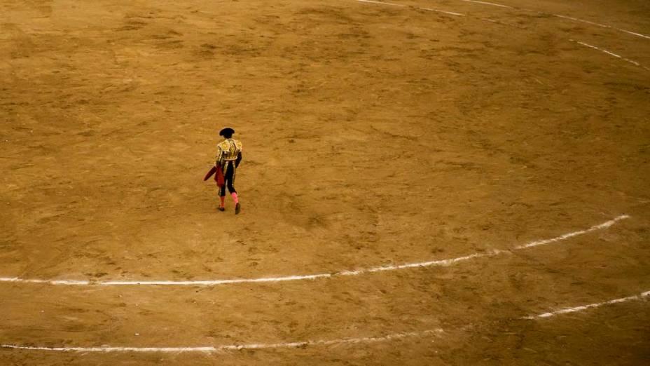 Toureiro José Tomás antes da última tourada, na praça de touros Monumental em Barcelona, Espanha