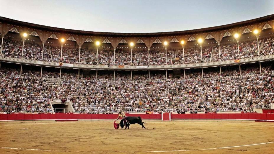 Toureiro José Tomás durante a última tourada, na praça de touros Monumental em Barcelona, Espanha