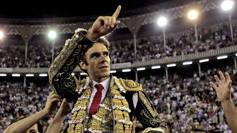 Toureiro Jose Tomás após a tourada, na praça de touros Monumental em Barcelona, Espanha