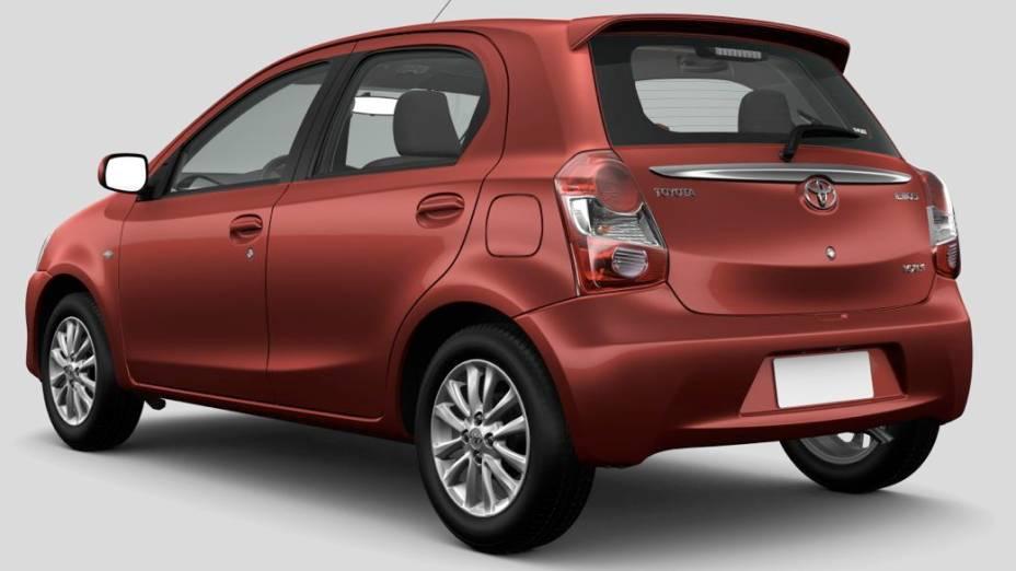 Etios, o novo compacto da Toyota no Brasil, na versão Hatch
