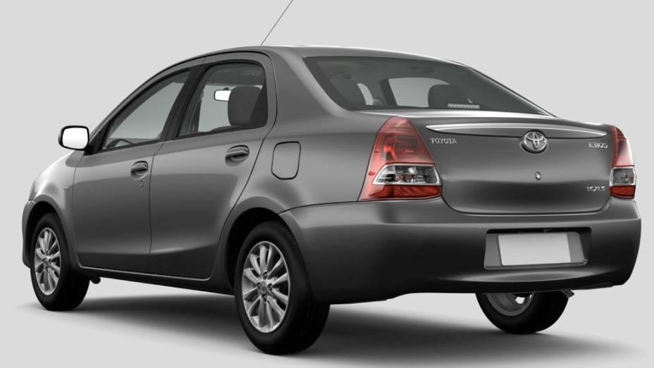 Etios, o novo compacto da Toyota no Brasil, na versão sedã