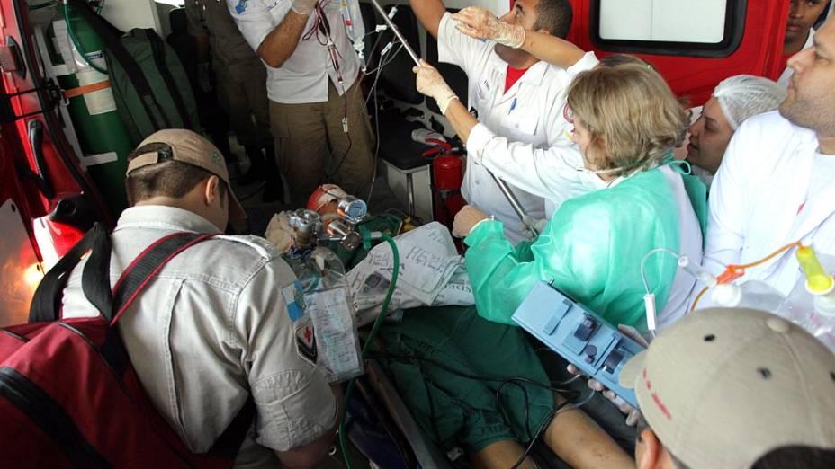 Aluno ferido na Escola Municipal Tasso da Silveira, no bairro Realengo, Rio de Janeiro