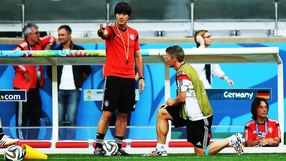 Treino da seleção da Alemanha antes do jogo contra o Brasil no Mineirão, em Belo Horizonte