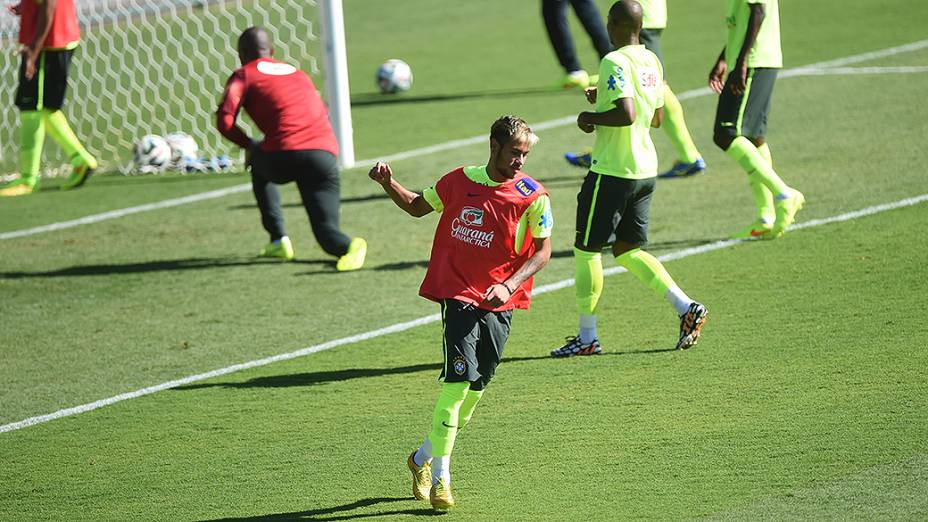 Treino da seleção brasileira em Belo Horizonte