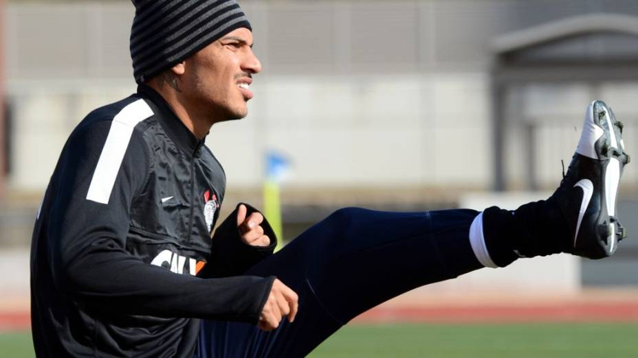 O primeiro treino do Corinthians no Japão, nesta sexta-feira, nos arredores de Nagoya