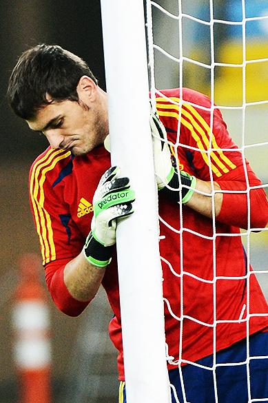 Treino da seleção espanhola para a final da Copa das Confederações, no Maracanã