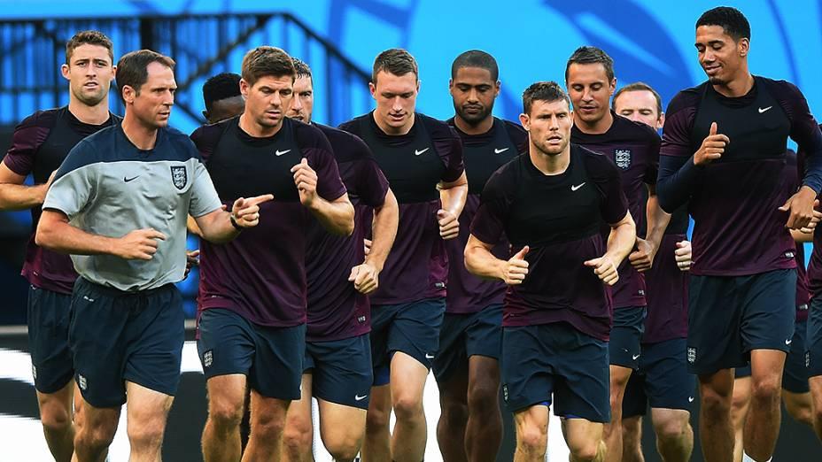 Treino da seleção da Inglaterra na Arena Amazônia, em Manaus