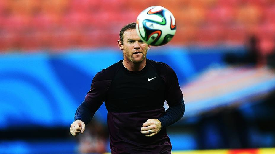Wayne Rooney durante treino da seleção inglesa, na Arena Amaozônia em Manaus
