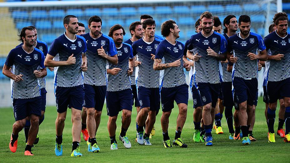 Treino da Itália nesta terça-feira (25), em Fortaleza