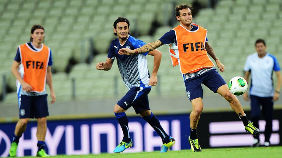 Treino da seleção da Itália no Castelão