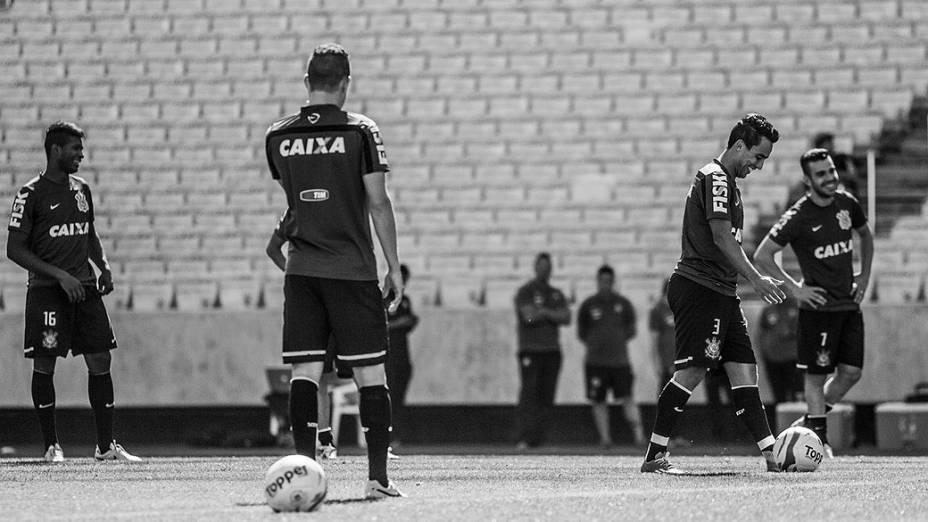 Treino realizado na Arena Corinthians, em São Paulo