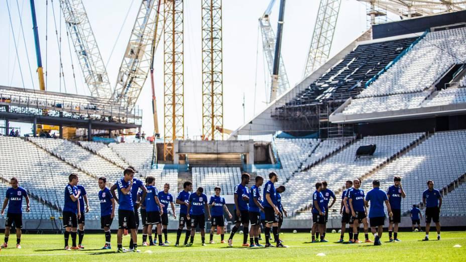O primeiro treino do Corinthians no Itaquerão
