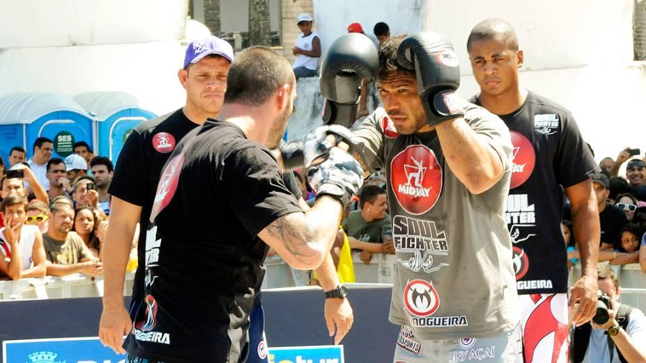 Rodrigo Minotauro, durante treino livre do UFC, no Rio de Janeiro