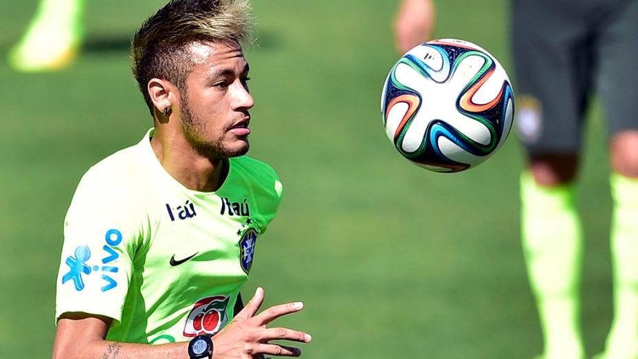 Neymar durante treino, em 02/07/2014