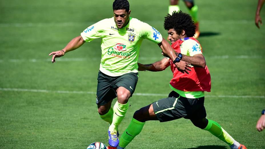 Hulk no treino da seleção, em 02/07/2014