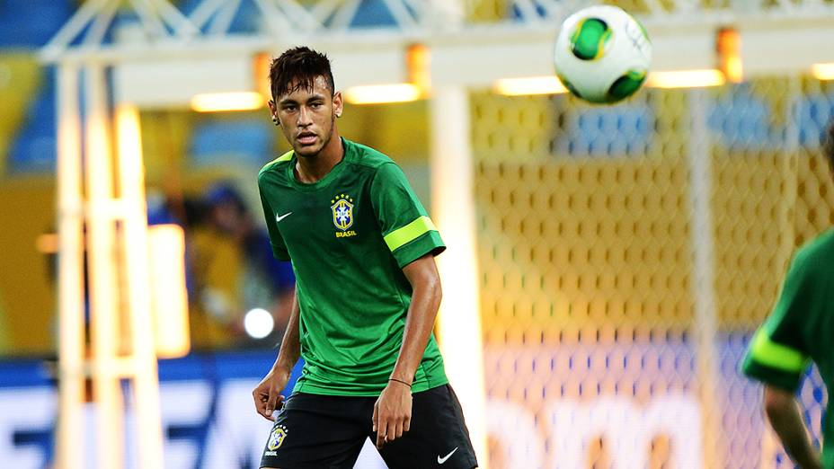 Treino da seleção brasileira no Rio de Janeiro, antes da final contra a Espanha, pela Copa das Confederações