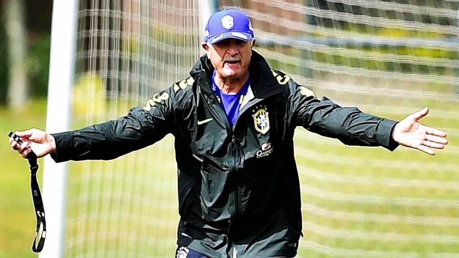 Último treino da seleção brasileira antes da semifinal contra a Alemanha, na Granja Comary, em Teresópolis