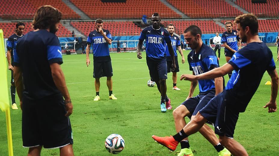 Treino da seleção italiana na Arena Amazônia, em Manaus