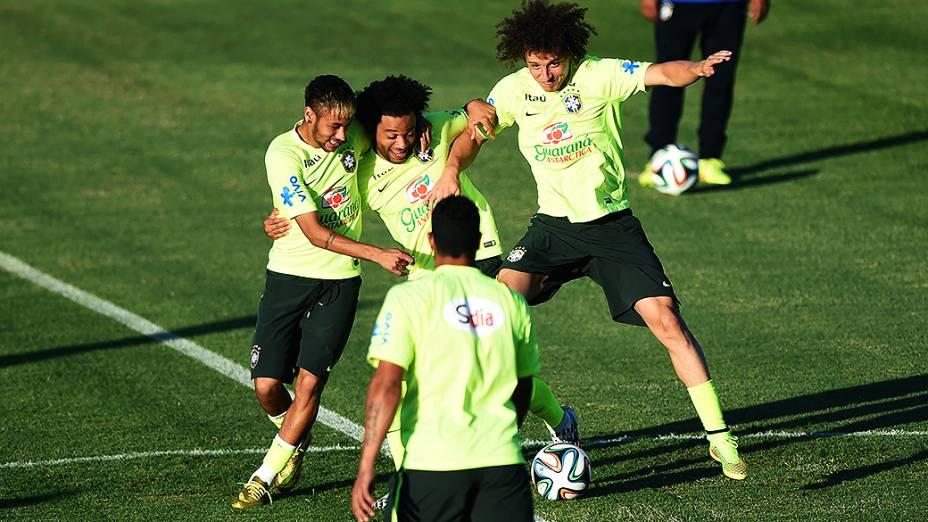 Treino da seleção brasileira antes do jogo contra a Colômbia no Castelão, em Fortaleza